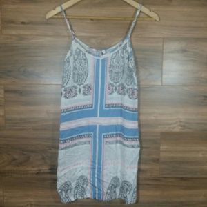 <3 P J Salvage White Blue Nightgown size large